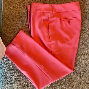 Melon colored crop pants